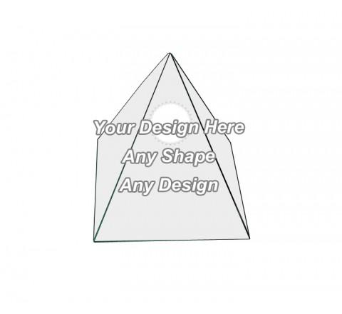 Die Cut - Pyramid Shape Boxes